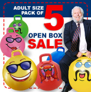 Open Box: 5 Adult Size Hop Ball Pack