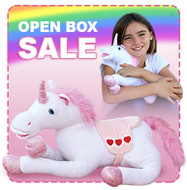 OPEN BOX: 12 inch plush unicorn