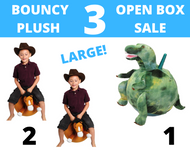Open Box Pack of 3 PLUSH JUMPING BALLS AGES 6 TO 9
