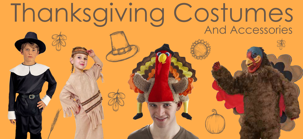 Fantasy Costumes Chicago has Thanksgiving costumes for sale and rent including Pilgrims, Native American Indians, Turkeys and Colonial outfits.