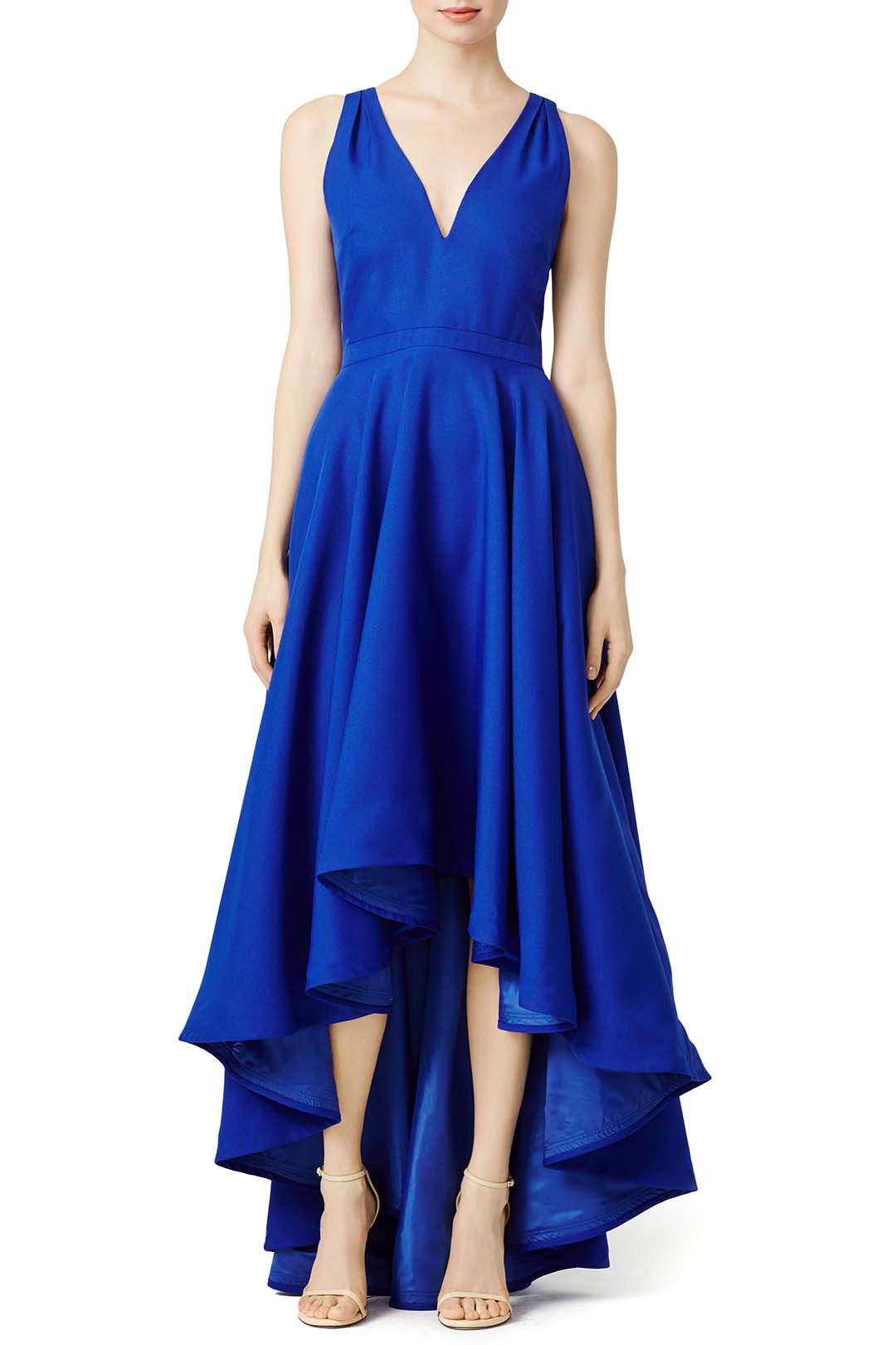 Rent The Runway Cobalt Marilyn Blue Masquerade Ball Gown