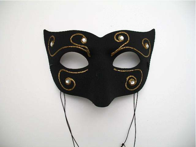 black amalfi mardi gras mask