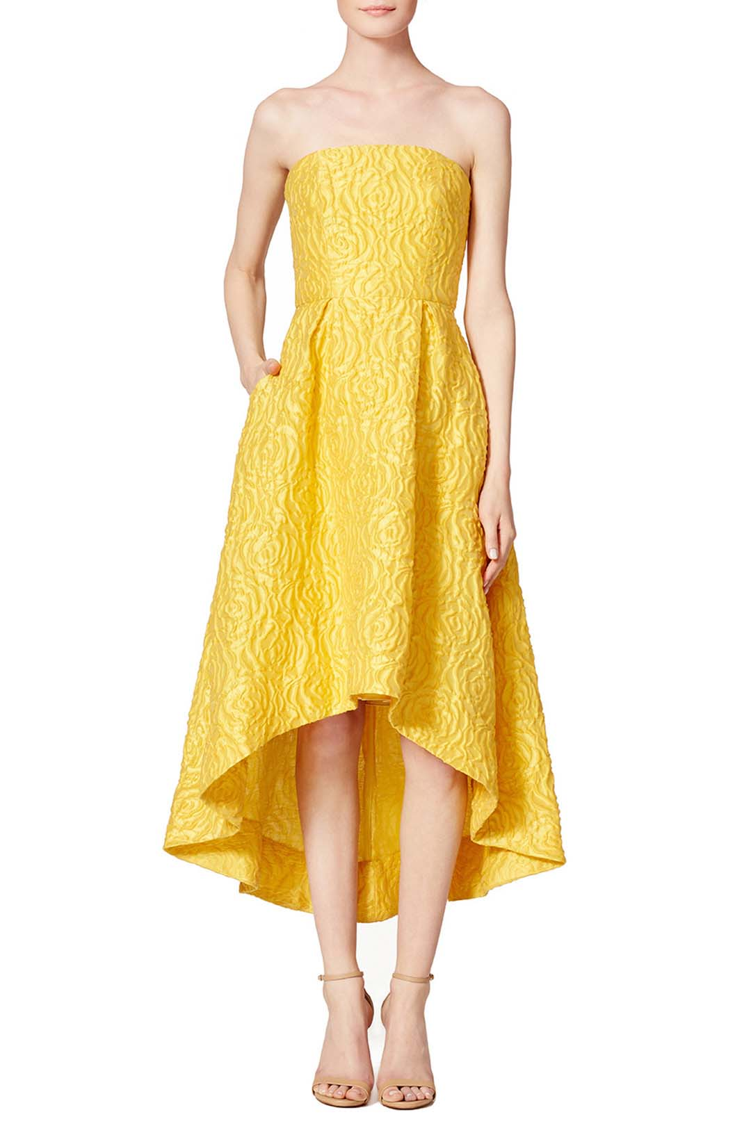 ML monique lhuillier sunshine day ball gown