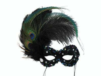 black nadia rhinestone masquerade mask
