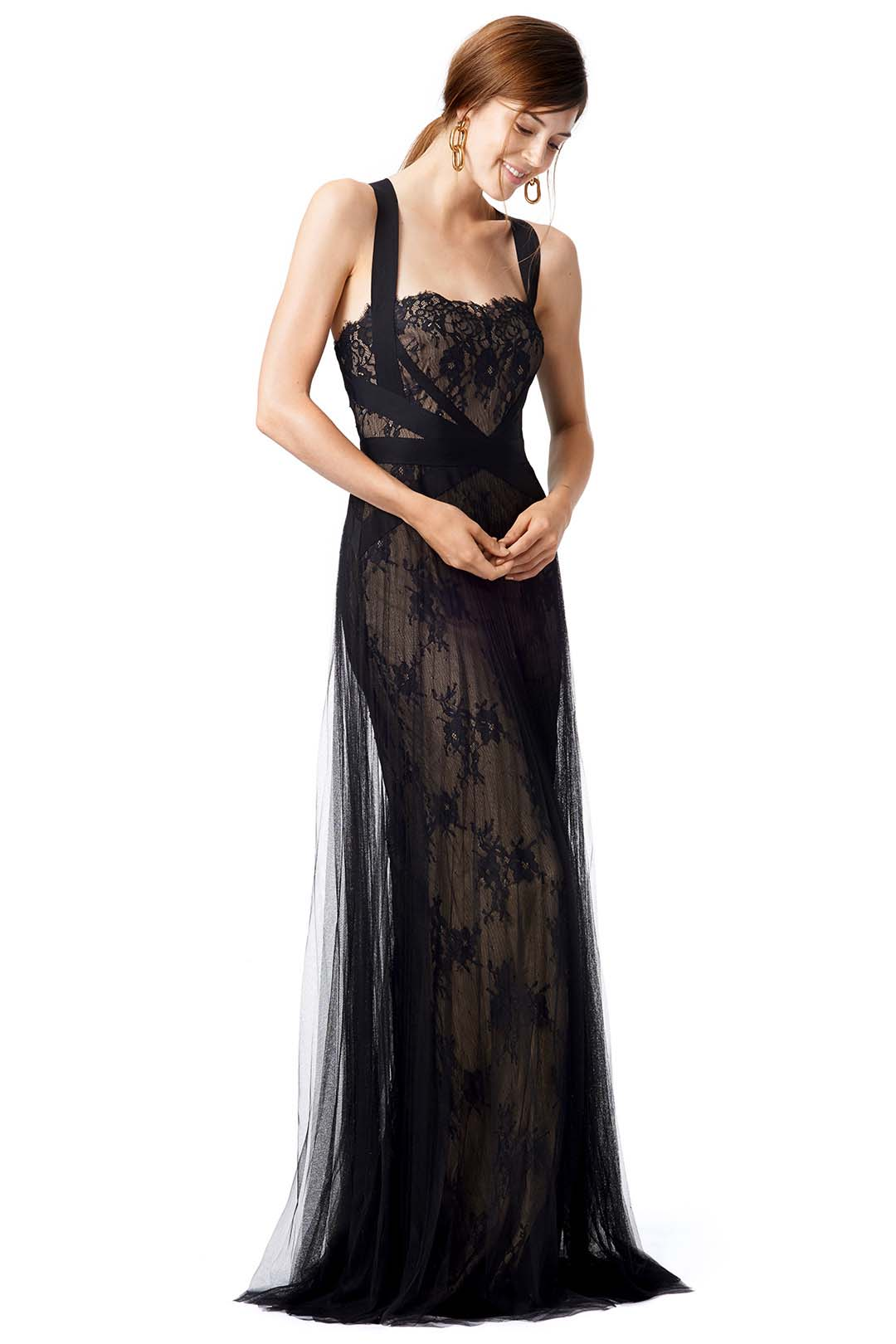 marchesa notte over again masquerade long ball gown