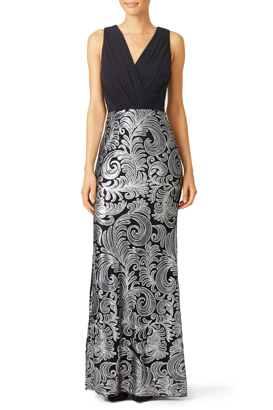 rent the runway laundry by shelli silver stream masquerade gown