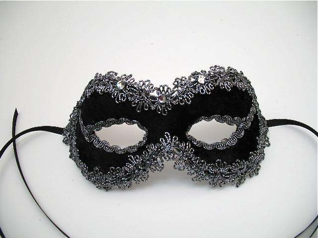 linz black rhinestone masquerade mask