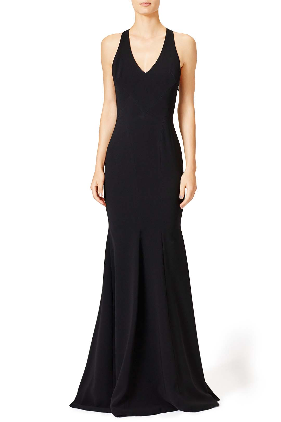 rent the runway black masquerade dress