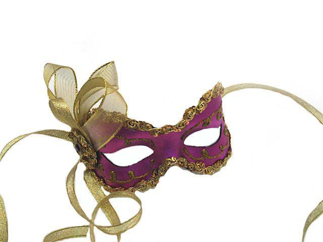 purple angelina sequin masquerade mask