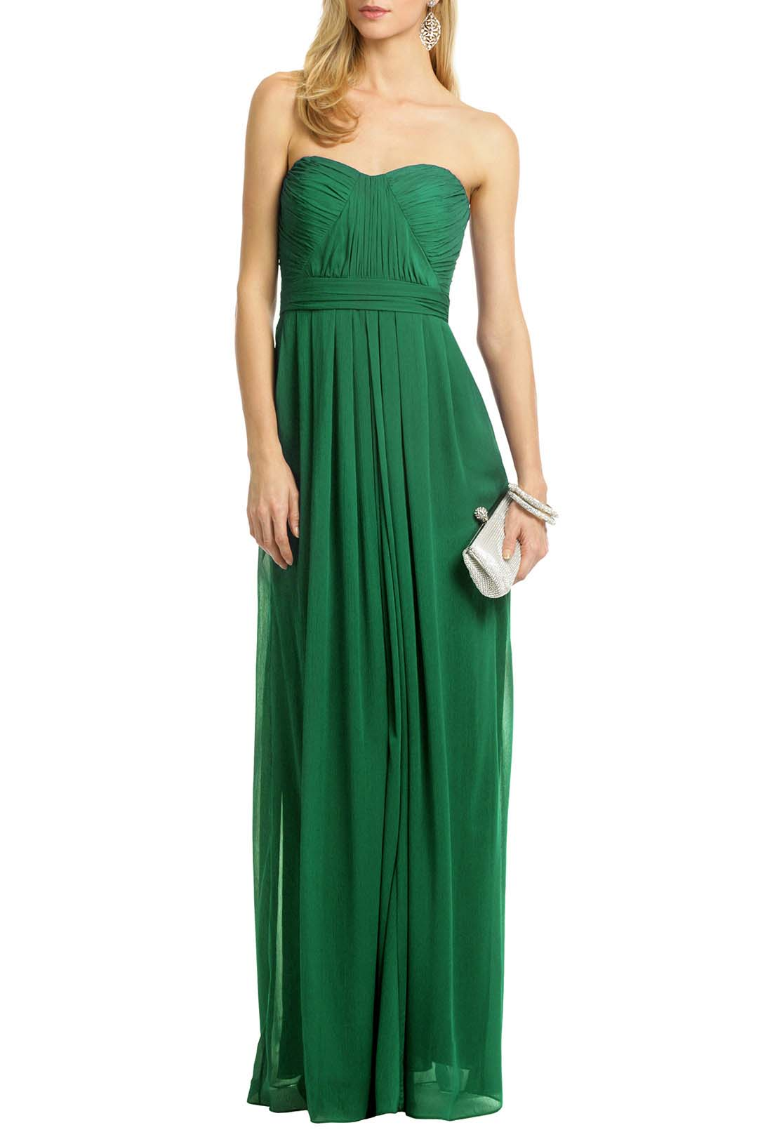 rent the runway green badgley mischka floral chiffon masquerade ball gown