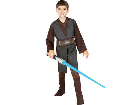 boys costume rental showing anakin skywalker outfit
