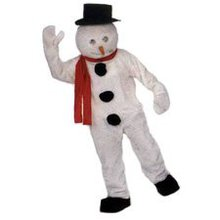 Christmas costume rentals showing a snowman costume for rent