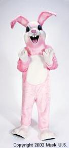 Pink Easter bunny costume for rent