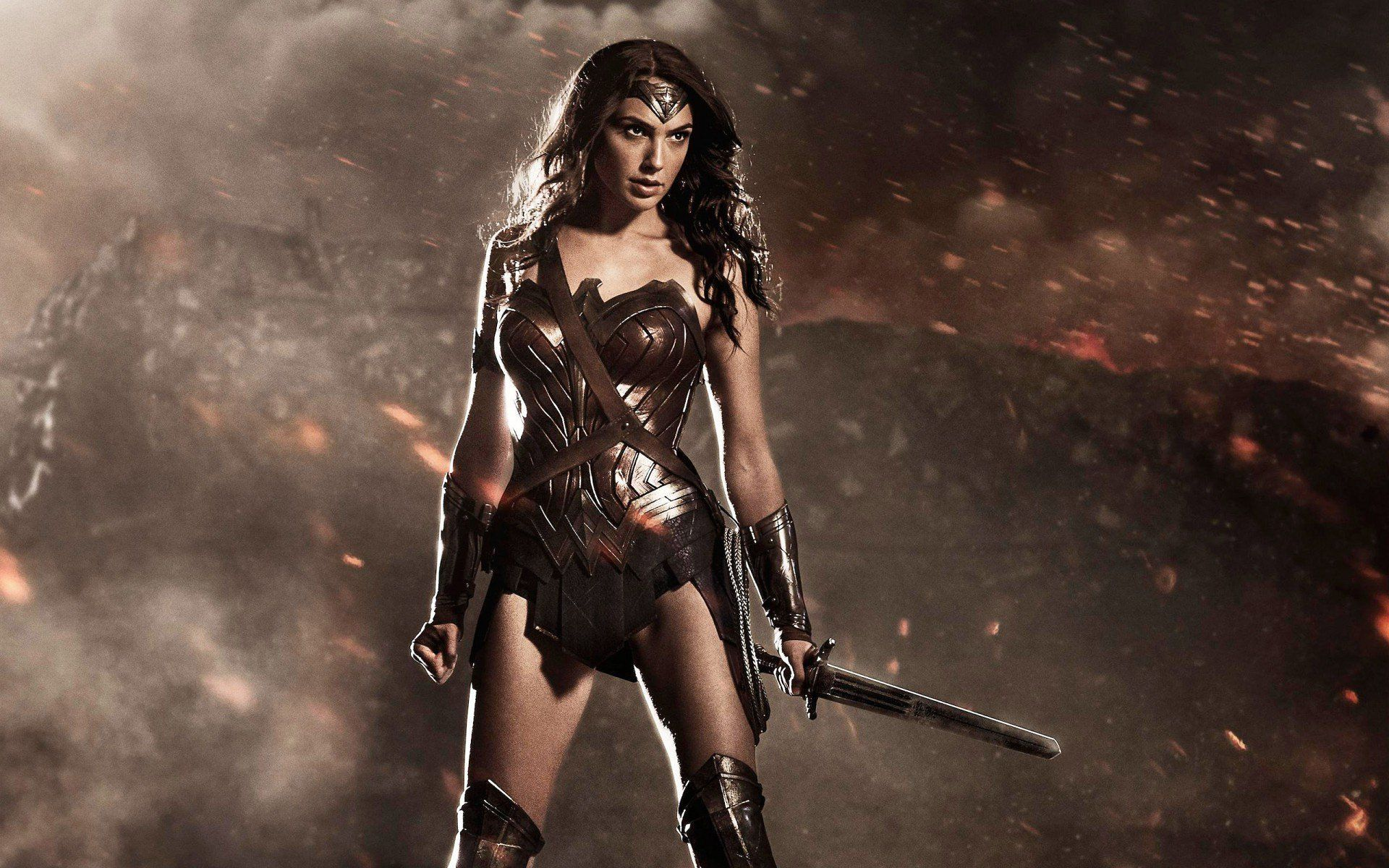 Gal Gadot as Wonder Woman in the 2017 motion picture