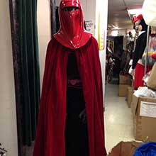red Imperial Guard costume from the Star Wars franchise.
