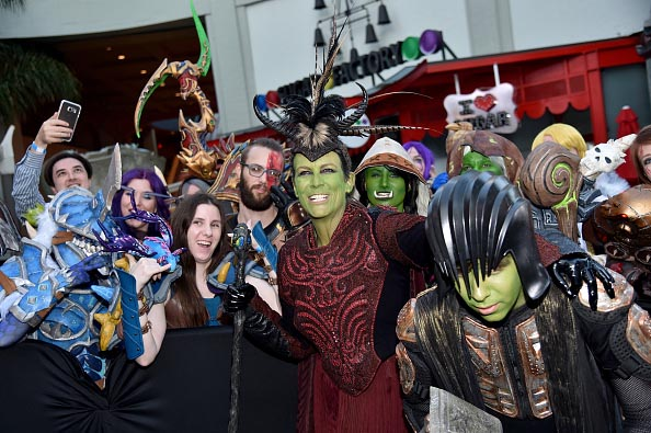 Jamie Lee Curtis orc World of Warcraft cosplay