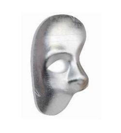 Silver Phantom of the Opera half face mask