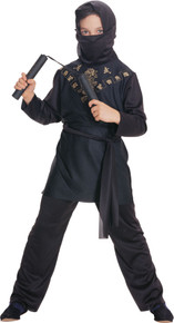 Ninja Black Child Costume Small 4-6