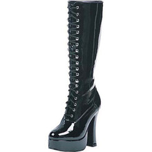 Boots Black Lace Up Women's