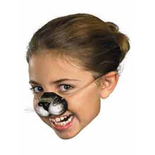 Cat Rubber Nose W/ Band Black