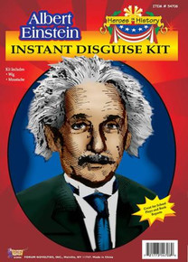 EINSTEIN WIG & MOUSTACHE CHARACTER KIT