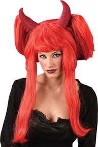 Devil Wig Red Deluxe