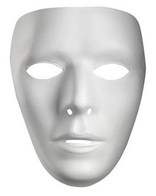 MALE PLASTIC WHITE FACE MASK