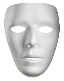 MALE PLASTIC WHITE FACE MASK