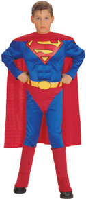 Superman Costume Muscle Deluxe Child