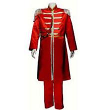 60's Nehru Tuxedo Adult Costume Red