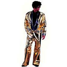Gold Lame Elvis Suit Adult Costume