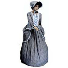 Deluxe Colonial Girl Child Costume