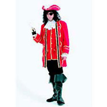 Pirate Captain Costume Adult Red
