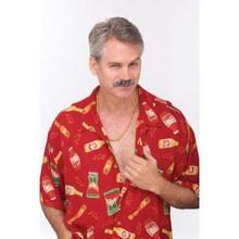 Grey 70's Dude Mustache
