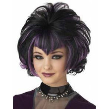 Wig Goth Black/Purple