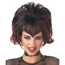 Wig Goth Black/Burgundy Flip