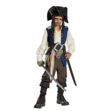 Jack Sparrow Costume Deluxe Child Sml 4-6