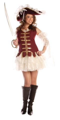 PIRATE TREASURE COSTUME ADULT
