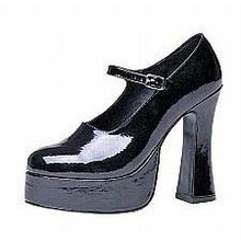 Maryjane Platform Shoes Black