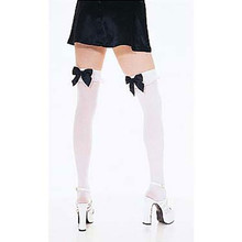 Black & White Nylon Stockings W/ Lace