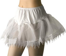 PETTICOAT WHITE RUFFLE BOTTOM