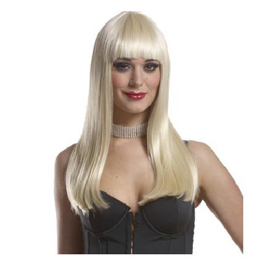 WIG MISTRESS WITH BANGS BLONDE