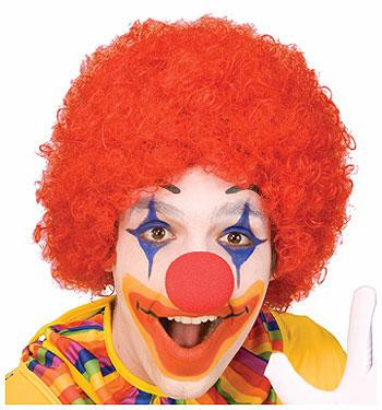 CLOWN WIG AFRO RED