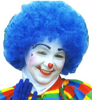 CLOWN WIG AFRO BLUE