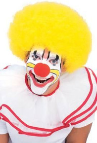 CLOWN WIG AFRO YELLOW