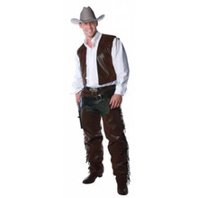 Cowboy Vest & Chaps Set Adult Std
