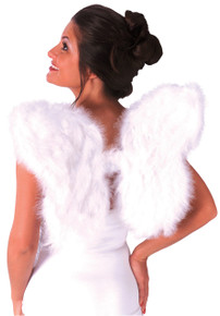 White Feathered Angel Wings