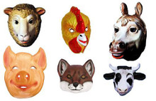 BARNYARD ANIMAL MASK SET