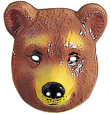 Bear Animal Mask Plastic