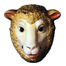 SHEEP ANIMAL MASK PLASTIC